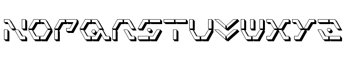 Zeta Sentry 3D Font LOWERCASE