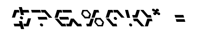 Zeta Sentry Bold Leftalic Font OTHER CHARS