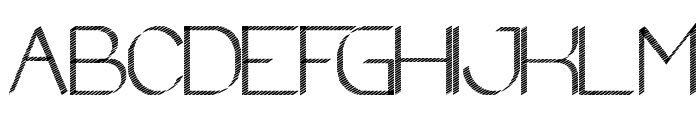 zebra CROSS Font UPPERCASE