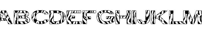 zebra tfb Font UPPERCASE