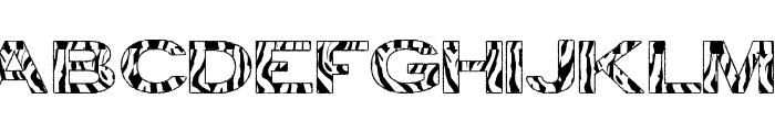 zebra tfb Font LOWERCASE