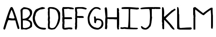 zeohand Font UPPERCASE