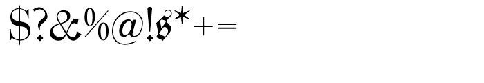 Zentenar Fraktur Regular Font OTHER CHARS