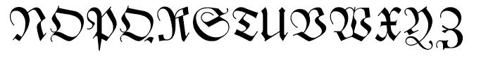 Zentenar Fraktur Regular Font UPPERCASE