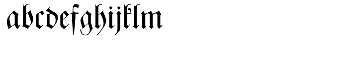 Zentenar Fraktur Regular Font LOWERCASE