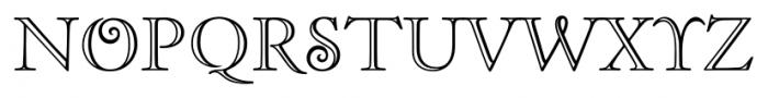 Zephyr Openface Font UPPERCASE