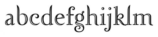 Zephyr Openface Font LOWERCASE