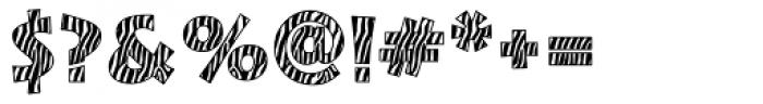 Zebra Skin Aarde Font OTHER CHARS