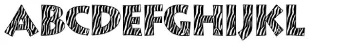 Zebra Skin Aarde Font UPPERCASE