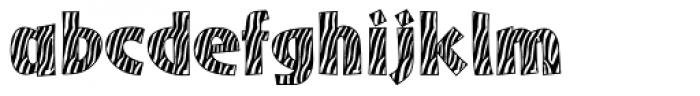 Zebra Skin Aarde Font LOWERCASE