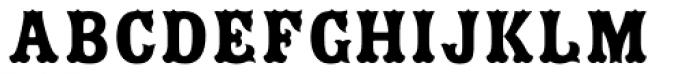 Zebrawood Std Fill Font UPPERCASE