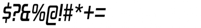 Zekton Condensed Bold Italic Font OTHER CHARS