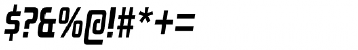 Zekton Condensed Heavy Italic Font OTHER CHARS