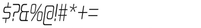 Zekton Condensed Light Italic Font OTHER CHARS