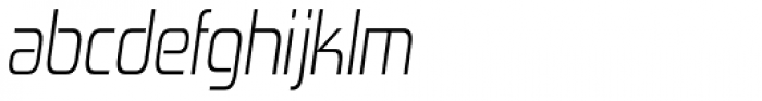 Zekton Condensed Light Italic Font LOWERCASE