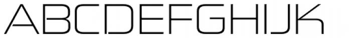 Zekton Extended Light Font UPPERCASE