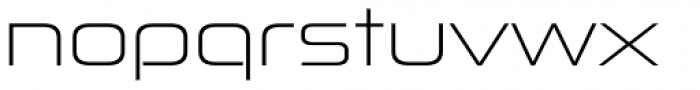 Zekton Extended Light Font LOWERCASE