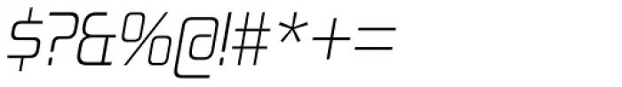 Zekton Light Italic Font OTHER CHARS