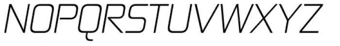 Zekton Light Italic Font UPPERCASE