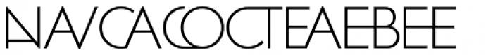 Zelda Cap Ligatures Extra Light Font UPPERCASE
