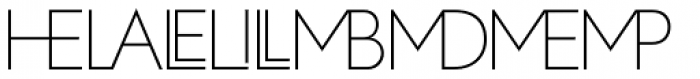 Zelda Cap Ligatures Thin Font UPPERCASE
