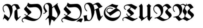 Zentenar Fraktur Halbfett Font UPPERCASE