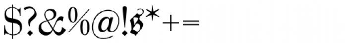 Zentenar Fraktur Mager Font OTHER CHARS
