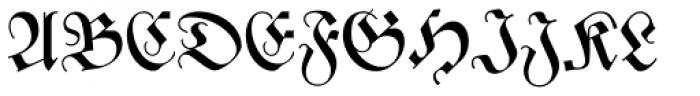 Zentenar Fraktur Mager Font UPPERCASE