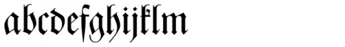 Zentenar Fraktur Mager Font LOWERCASE