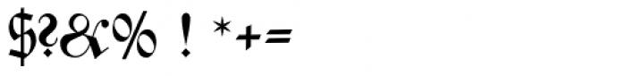 Zentenar Fraktur Pro Bold Font OTHER CHARS