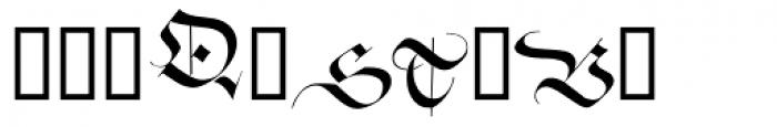Zentenar Initialen Font LOWERCASE