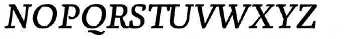Zentral Italic Font UPPERCASE