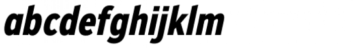 Zeppelin 22 Condensed Bold Italic Font LOWERCASE