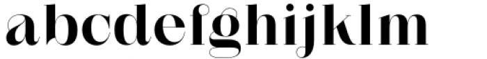 Zermatt Bold Font LOWERCASE