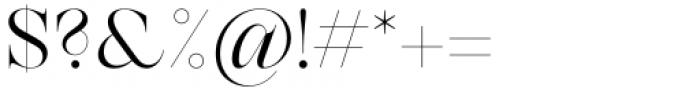 Zermatt Light Font OTHER CHARS