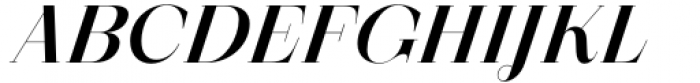 Zermatt Medium Italic Font UPPERCASE