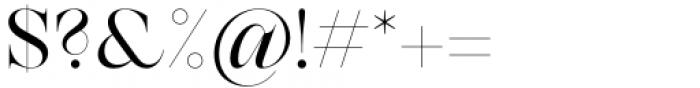 Zermatt Regular Font OTHER CHARS
