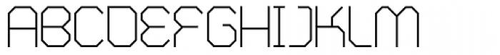 Zero Closed Fine Font UPPERCASE
