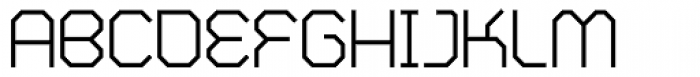 Zero Closed Regular Font UPPERCASE