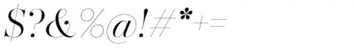 Zesta Light Italic Font OTHER CHARS