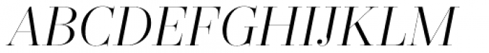 Zesta Light Italic Font UPPERCASE