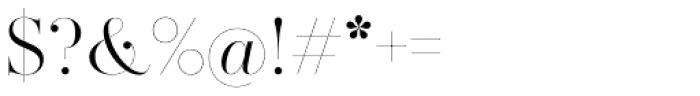 Zesta Light Font OTHER CHARS