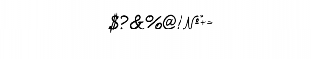 Zhandwritten_F Font OTHER CHARS