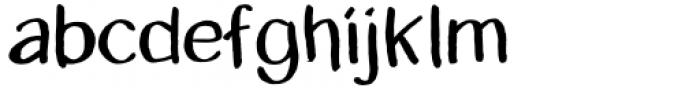 Zhivanii Medium Font LOWERCASE