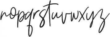 Ziliast otf (400) Font LOWERCASE