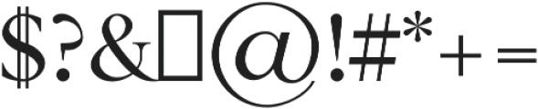 Zimra otf (400) Font OTHER CHARS