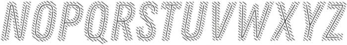 Zing Rust Diagonals2 Base2 Line otf (400) Font UPPERCASE