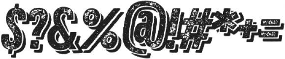 Zing Rust Grunge2 Base Shadow2 otf (400) Font OTHER CHARS