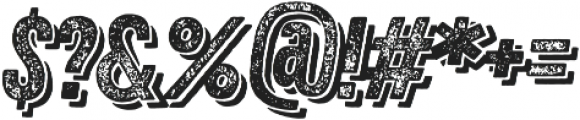 Zing Rust Grunge3 Base Shadow2 otf (400) Font OTHER CHARS