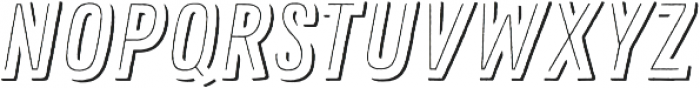 Zing Rust Line Shadow1 otf (400) Font LOWERCASE